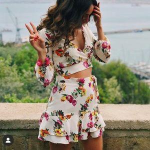 Zara Floral Co-Ord Skirt Set